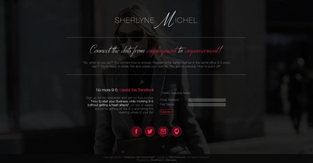 Website Showcase: Landing page draft for Sherlyne Michel » Webdesigner Saarbrücken · Fotografie · Copywriting · Storytelling » Brand Artery
