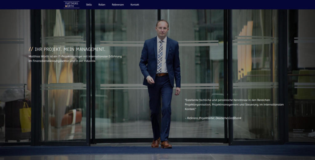 Website Showcase: Matthias Würth » Webdesigner Saarbrücken · Fotografie · Copywriting · Storytelling » Brand Artery