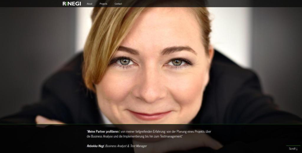 Website Showcase: Rebekka Negi » Webdesigner Saarbrücken · Fotografie · Copywriting · Storytelling » Brand Artery