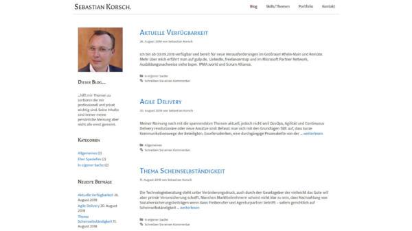 Website Showcase: Sebastian Korsch » Webdesigner Saarbrücken · Fotografie · Copywriting · Storytelling » Brand Artery