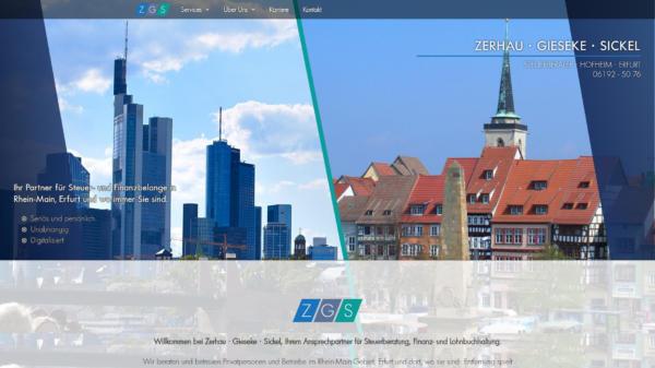 Website Showcase: Zerhau · Gieseke · Sickel » Webdesigner Saarbrücken · Fotografie · Copywriting · Storytelling » Brand Artery
