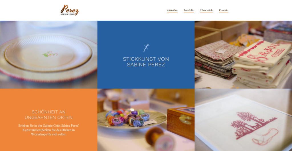 Website Showcase: Front page draft for Sabine Perez » Webdesigner Saarbrücken · Fotografie · Copywriting · Storytelling » Brand Artery