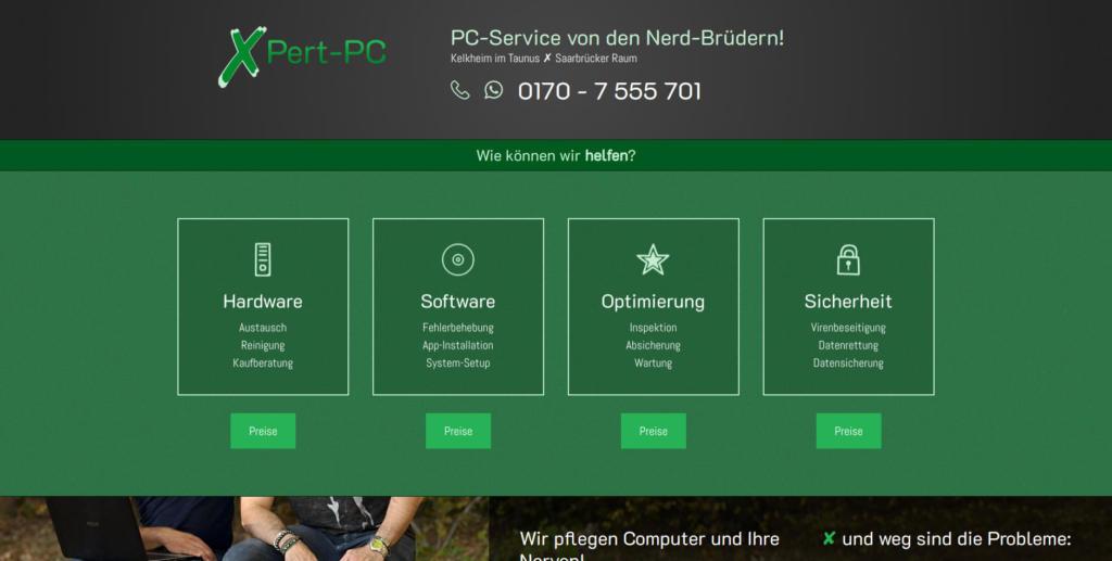 Website Showcase: XPert-PC » Webdesigner Saarbrücken · Fotografie · Copywriting · Storytelling » Brand Artery