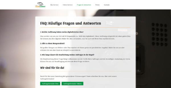 Website Showcase: 123-Scancenter » Webdesigner Saarbrücken · Fotografie · Copywriting · Storytelling » Brand Artery