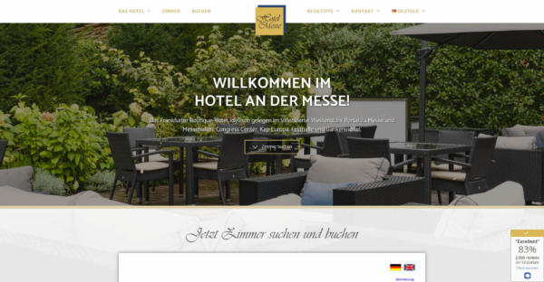 Website Showcase: Hotel an der Messe » Webdesigner Saarbrücken · Fotografie · Copywriting · Storytelling » Brand Artery