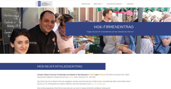 Website Showcase: Handwerk und Gewerbe in Königstein (HGK) » Webdesigner Saarbrücken · Fotografie · Copywriting · Storytelling » Brand Artery