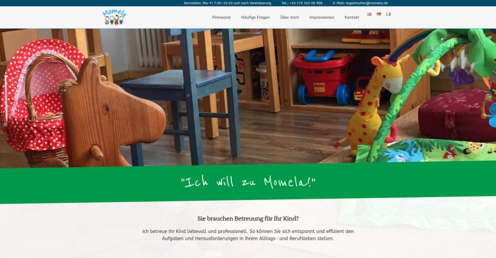 Website Showcase: Momela » Webdesigner Saarbrücken · Fotografie · Copywriting · Storytelling » Brand Artery