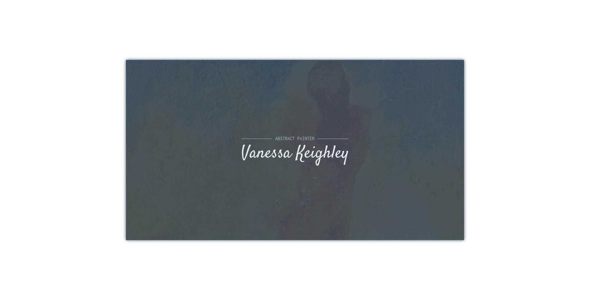 Website Demo: Vanessa Keighley » Webdesigner Saarbrücken · Fotografie · Copywriting · Storytelling » Brand Artery