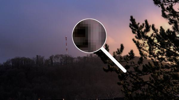 Foto mit vergrößerten Pixeln